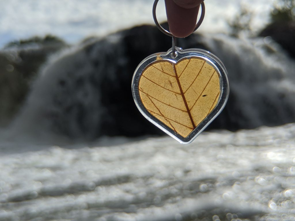 Kratom keychain by winter waterfall