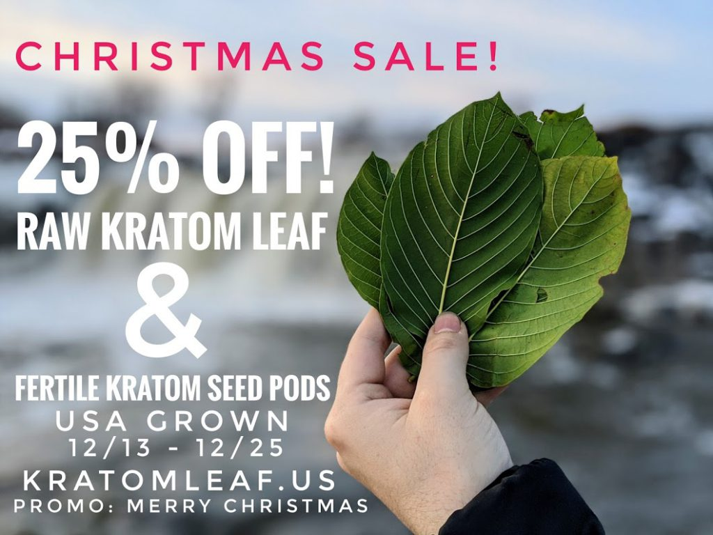 12 Days of Kratom Christmas Sale!